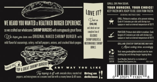 Good Neighborhood Seafood Co Original Naked Shrimp Burger Perspective: back
