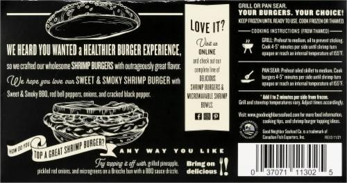 Good Neighbot Seafood Co Sweet & Smoky Shimp Burger Perspective: back