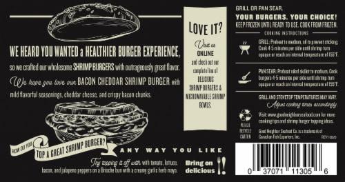 Good Neighbor Seafood Co Bacon Cheddar Shrimp Burger Perspective: back