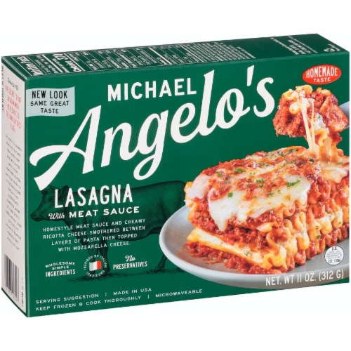 Michael Angelo's Lasagna with Meat Sauce Perspective: back