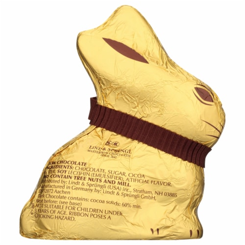 Lindt Dark Chocolate Gold Bunny Perspective: back