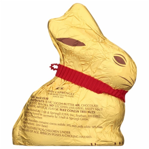 Lindt Milk Chocolate Gold Bunny Perspective: back