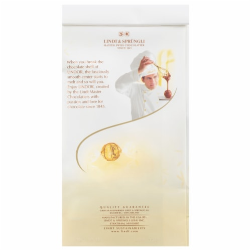 Lindt Lindor White Chocolate Truffles Perspective: back