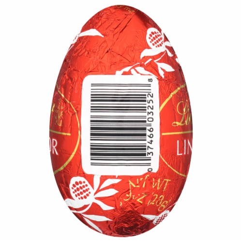 Lindt LINDOR Milk Chocolate Egg Perspective: back