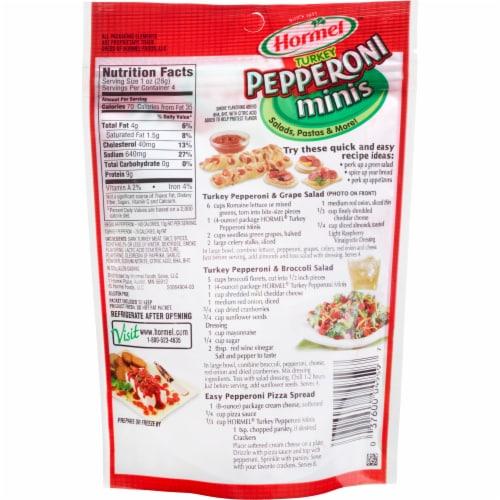 Hormel Turkey Pepperoni Minis Perspective: back