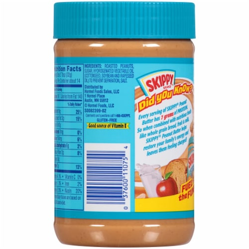 Skippy® Creamy Peanut Butter Perspective: back