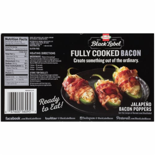 Hormel Black Label Fully Cooked Hardwood Smoked Thick Cut Bacon Perspective: back