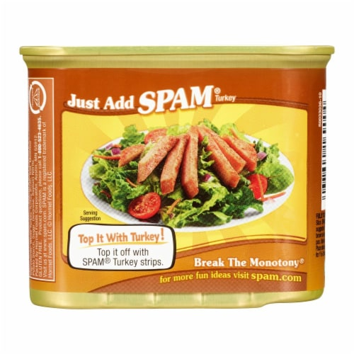 SPAM Oven Roasted Turkey Perspective: back