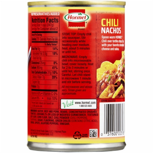 Hormel® Chili with Beans Perspective: back