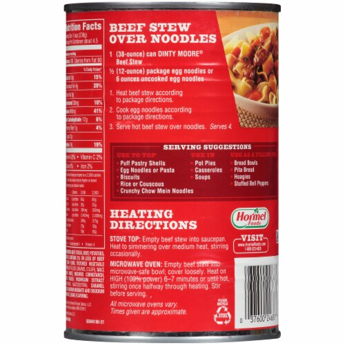 Dinty Moore® Beef Stew Perspective: back