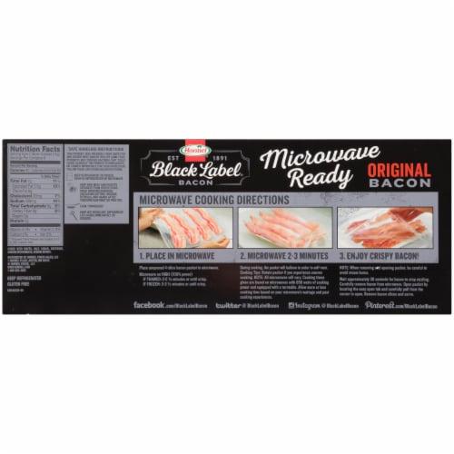 Hormel® Black Label® Microwave Ready Original Bacon Perspective: back