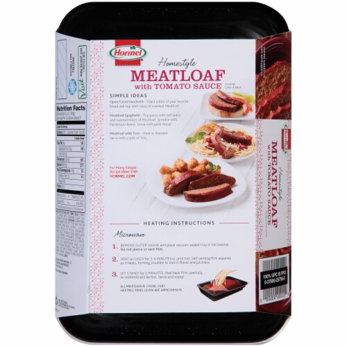 Hormel Homestyle Meatloaf with Tomato Sauce Perspective: back