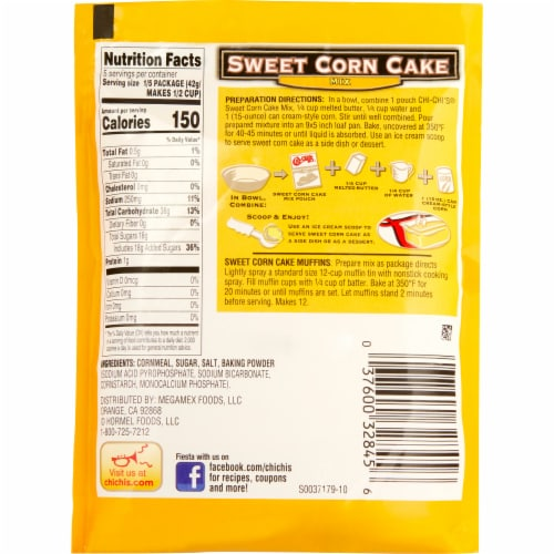Chi-Chi's Sweet Corn Cake Mix Perspective: back