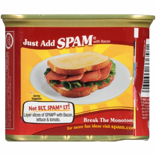 Spam® with Real Hormel Bacon Perspective: back