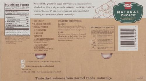 HORMEL NATURAL CHOICE Original Uncured Bacon Perspective: back