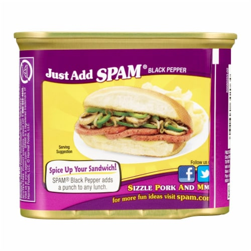 SPAM Black Pepper Canned Meat Perspective: back
