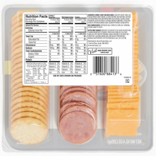 Hormel Gatherings Honey Ham Snack Tray Perspective: back