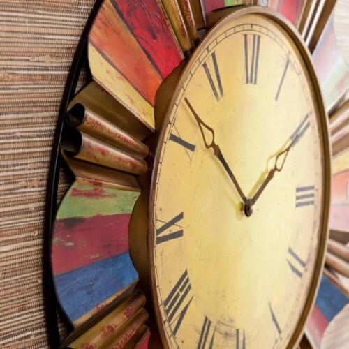 Multicolor Wall Clock Perspective: back