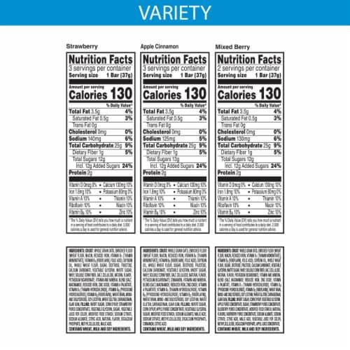 Kellogg's Nutri-Grain Soft Baked Breakfast Bars Variety Pack Perspective: back