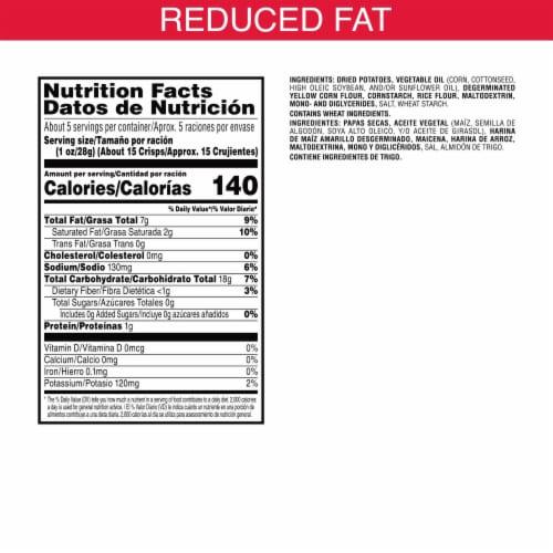 Kellogg's Pringles Snacks Original Reduced Fat Potato Crisps Chips Perspective: back