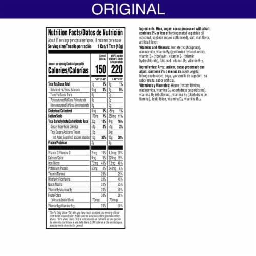 Kellogg's Cocoa Krispies Breakfast Cereal Perspective: back