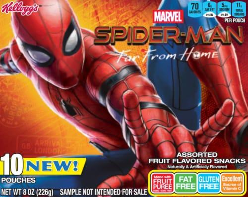 Kellogg's Marvel Spider-Man Assorted Fruit Flavored Snacks Perspective: back