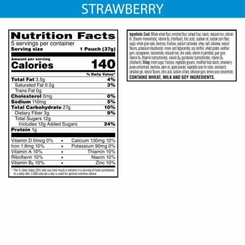 Kellogg's Nutri-Grain Bites Strawberry Mini Breakfast Bars Perspective: back