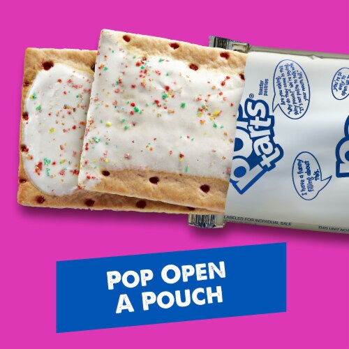 Pop-Tarts Frosted Strawberry Toaster Pastries Perspective: back