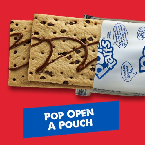 Pop-Tarts Frosted Chocolate Chip Toaster Pastries Perspective: back
