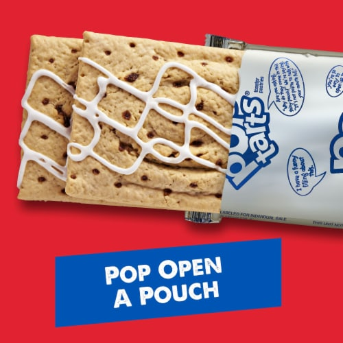 Pop-Tarts Frosted Cinnamon Roll Toaster Pastries Perspective: back
