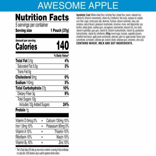 Kellogg's Nutri-Grain Bites Apple Mini Breakfast Bars Perspective: back