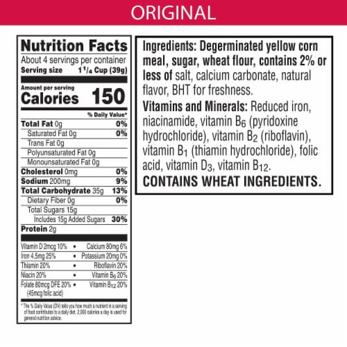 Kellogg's Tiger Paws Jumbo Snax Original Cereal Perspective: back