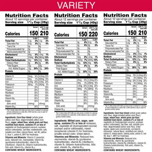 Kellogg's Cereal Variety Pack Perspective: back