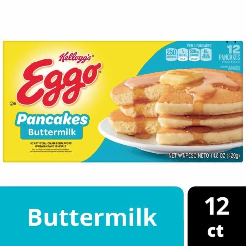 Kellogg's Eggo Buttermilk Pancakes Perspective: back