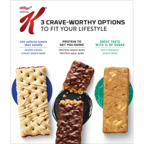 Kellogg's Special K 12g Protein Chocolatey Chip Protein Bars Perspective: back