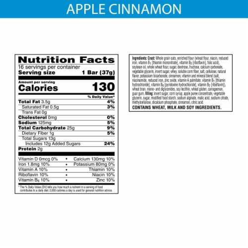 Kellogg's Nutri-Grain Soft Baked Breakfast Bars Apple Cinnamon Value Pack Perspective: back