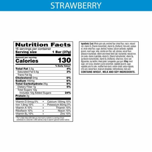 Kellogg's Nutri-Grain Strawberry Soft Baked Breakfast Bars Perspective: back