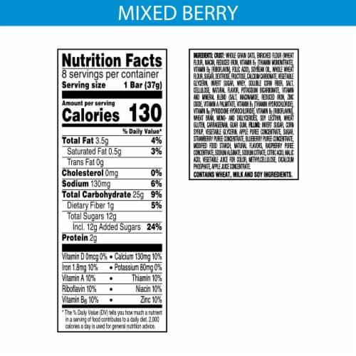 Kellogg's Nutri-Grain Soft Baked Breakfast Bars Mixed Berry Perspective: back