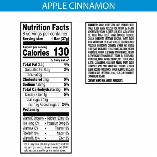 Kellogg's Nutri-Grain Soft Baked Breakfast Bars Apple Cinnamon Perspective: back