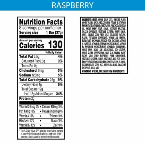 Kellogg's® Nutri-Grain® Raspberry Soft Baked Breakfast Bars Perspective: back
