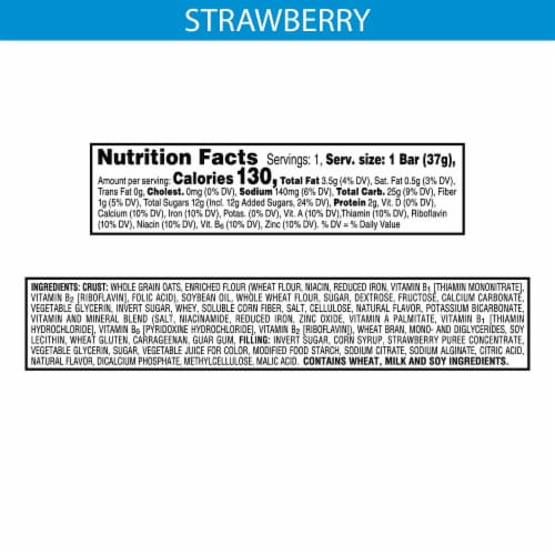 Nutri-Grain Strawberry Soft Baked Breakfast Bar Perspective: back