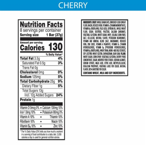Kellogg's Nutri-Grain Soft Baked Breakfast Bars Cherry Perspective: back