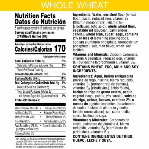 Eggo Nutri-Grain Frozen Breakfast Waffles Original Perspective: back
