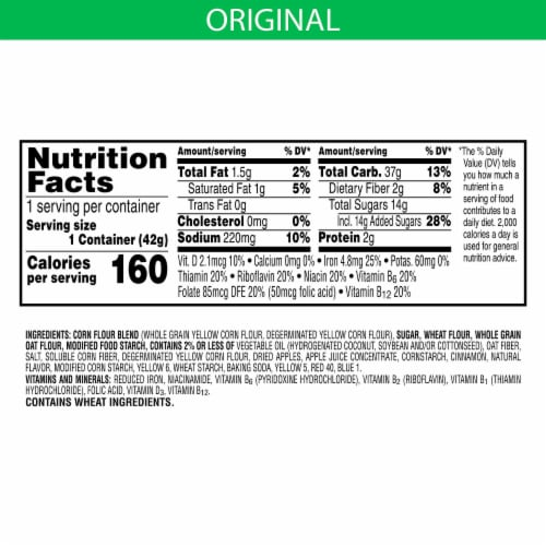 Kellogg's Apple Jacks Breakfast Cereal in a Cup Original Perspective: back