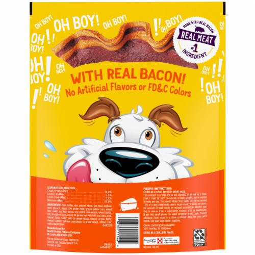 Beggin' Strips Bacon & Cheese Flavor Dog Treats Perspective: back