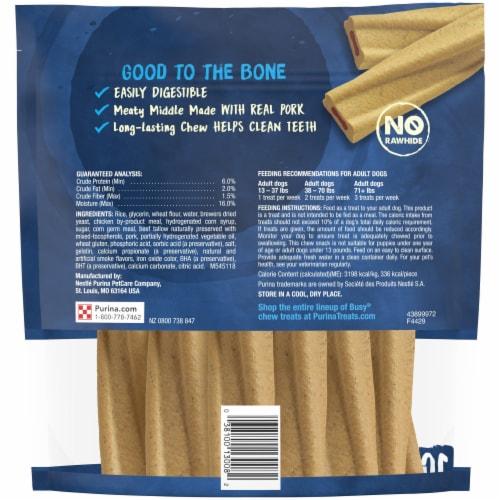 Purina Busy Bone Original Long-Lasting Chew Dog Treats Perspective: back