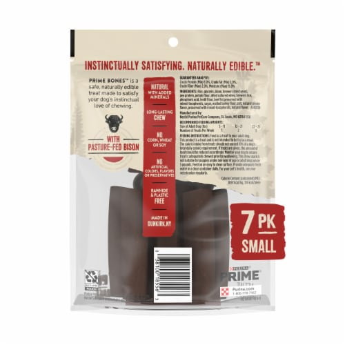 Purina Prime Bison Bones Chew Stick Dog Treats Perspective: back