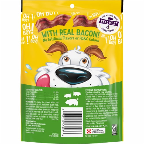 Purina® Beggin'® Strips Fun Size Originals with Bacon Flavor Dog Treats Perspective: back