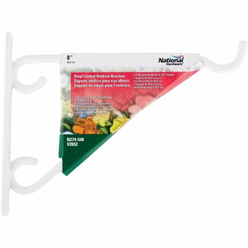 National 8 In. White Vinyl-Coated Steel Plant Hanger Bracket N274-548 Perspective: back