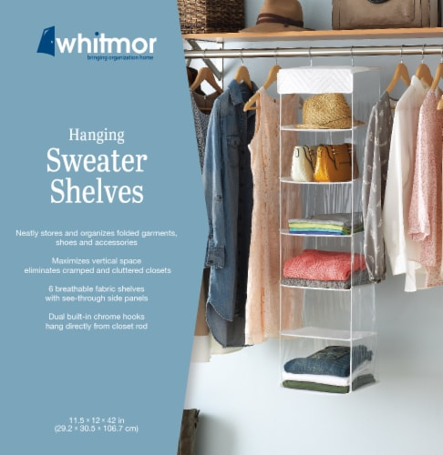 Whitmor Hanging Sweater Shelves Perspective: back